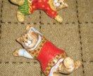 Ярославская майолика ползущие коты