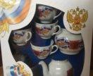 Чайный сервис с символикой России
