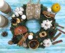 Новогодний веночек из натуральной голландской ели