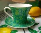 Набор зеленый чашка и блюдце