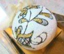 Стеклянный елочный шар. Новый! Ручная работа.