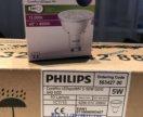 Лампа Philips светодиодная GU10 5W