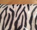Плед новый зебра, следы