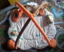 Развиващий коврик Овечка + подарок погремушка