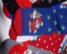 Теплые новогодние носочки