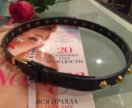 Чёрный лаковый ремень с шипами Zara