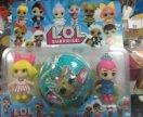 Куклы лол набор 3в1