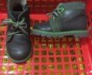 Кожаные тёплые ботиночки