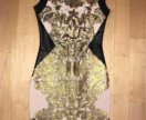 Платье золотое женское