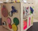 Развивающий куб для детей/ бизикуб. Бизиборд