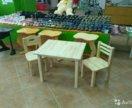 Детские столы,стулья,лавочки,качели.