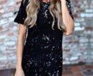 Платье новое в паетку