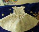 Праздничное золотистое платье