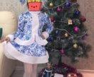 Продам костюм снегурочки на девочку 5-6 лет