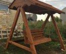 Деревянная качеля из массива сосны