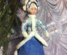 Ватная елочная игрушка Снегурочка