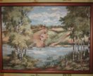 (15) Большая гобеленовая картина. Русь Лето у реки