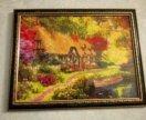 Картина из страз Дом у реки