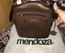 Мужской сумка цвет коричневый новая кожаная