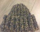 Шапка плотная зимняя серая новая