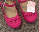 Туфельки новые розовые mothercare