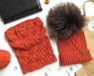 Комплект шапка и снуд (ручная работа)