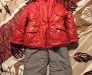 Куртка и полукомбинезон на зиму рост 92