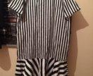 Платье зебра широкого стиля 46-48 р