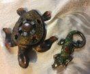 Черепашка и ящерица