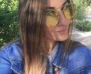 Желтые модные очки
