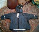 Новая прорезиновая куртка-дождевик 74-80 см