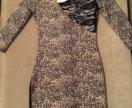 Платье леопардовое вечернее