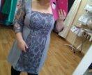 Элегантное мини-платье большого размера А-покроя