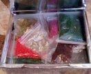 Коробочка с бисером 24 пакетика