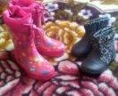 Сапоги резиновые ботинки детские
