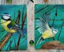 """Картина диптих """"Птички"""" холст, масло."""