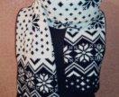 Зимний двусторонний шарф
