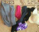 Шапка ушанка,шарф,гетры