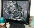 Картина Леопард алмазная вышевка