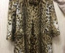 Продаю шубу из лисы (леопардовый окрас)
