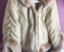 Куртка на синтепоне с мехом песца