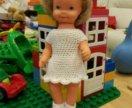 Платье для куклы и тапочки