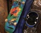 Почти новый скейтборд + сумка + некоторая защита