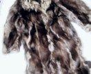 Шуба чернобурка 50разм с наборным рисунком ,лёгкая