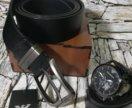 Набор часы+ремень+коробка