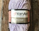Velour yarn art