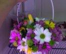 Корзинка с цветами разными