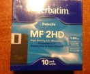 Дискеты Verbatim MF 2HD, 10 шт. Новые