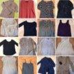 Пакет вещей:блузки,кофты,рубашки...