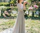 Шикарное вечернее платье с рукавами